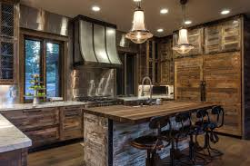 Colorful Kitchens Mountain Kitchen Designs Rustic Cream Cabinets Floor Tiles Modern Design