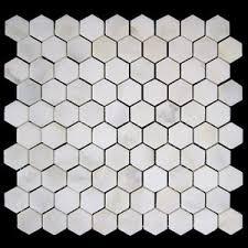 calacatta gold italian marble 1 hexagon mosaic tile honed