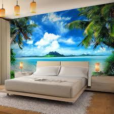 fototapete strand meer palmen 352 x 250 cm vlies wand tapete