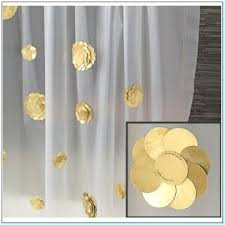 Gold And White Curtains by Curtains Excellent Gold Shower Curtain For Home Rose Gold Shower