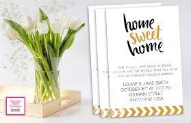 HOUSEWARMING INVITATION Black And Gold HouseWarming Housewarming Invitation Home Sweet House Warming Modern Invite
