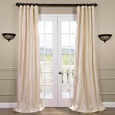 Cheap 105 Inch Curtains by Silk Pearl White Curtains Half Price Drapes