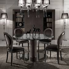 Cheap Dining Room Sets Uk by Italian Nubuck Leather Round Glass Dining Table And Chairs Set