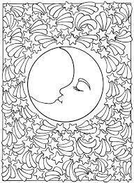 Moon And Stars Coloring Pages Printable Sun Free