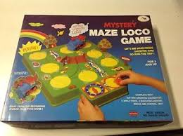 Image Is Loading 1980 Vintage Mystery Maze Loco Game Train Board