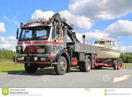 100 Truck Boat MercedesBenz 1622 For Transport Editorial Stock Photo