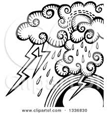 Storm Clipart Black And White 8