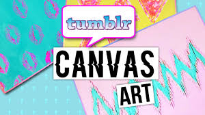 HOW TO MAKE TUMBLR CANVAS ART