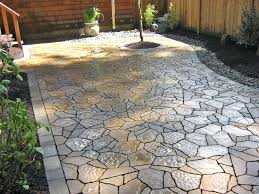 Patio Ideas ~ Backyard Concrete Patio Pictures Backyard Stamped ... Stone Texture Stamped Concrete Patio Poured Stamped Concrete Patio Coming Off Of A Simple Deck Just Needs Fresh Finest Cost Of A Stained 4952 Best In Style Driveway Driveways And Patios Amazing Walmart Fniture With To Pour Backyards Cement Backyard Ideas Pictures Pergola Awesome Old Home Design And Beauteous Dawndalto Decor Different Outstanding Polished Designs For Wm Pics On Mesmerizing