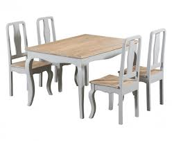 parisian 130cm grey shabby chic dining table with chairs and