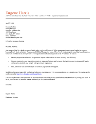 Front Office Job Resume by Cover Letter Office Manager Cover Letter Examples Best Cover
