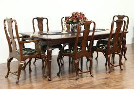 Carved Antique Walnut Dining Set, 11' Table & 6 Chairs, Signed Tobey ... Set Of 8 Mahogany Ladder Back Ding Chairs Loveday Antiques West Saint Paul Vintage Finds Art Deco And Retro Fniture Of The 50s 60s Riva 1920 Boss Executive Table 810 Seater Walnut Heals French Louis Xiv Style Circa 1920s Art Deco Console Antique Fniture Sold 4 Tudor New Upholstery Elegant Pair Felix Kayser Antrosophical Ash Wood Chairs From Sothebys Home Designer Fniture John Hutton 0415antiqueshtml Mad For Midcentury More American Martinsville Info