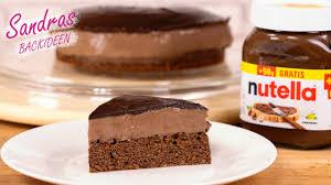 saftiger nutella kuchen einfach lecker schokoladen kuchen