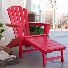 Patio Furniture With Hidden Ottoman by Polywood Recycled Plastic Big Daddy Adirondack Chair With Pull
