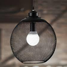 Industrial Globe Mesh 1 Light LED Mini Pendant Lighting