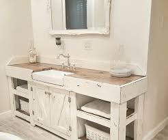 bathroom elegant sophisticated white farmhouse vanity double