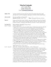 Contract Management Resume Templates Administrator Best Hr Coordinator Example