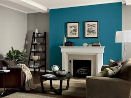 living room paint ideas with accent wall wall shelves