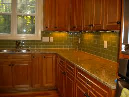 Amazing Kitchen Backsplash Green Subway Tile Plus Decorations Photo