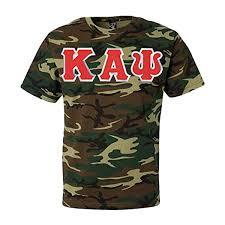 Amazoncom Kappa Alpha Psi Fraternity Greek Lettered Camouflage T