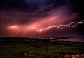 Huge Streaks Of Lightning Were Spotted Snaking Across The Sky Near Fistral Beach Newquay