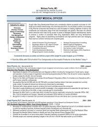 Chief Medical Officer Resume Sample Affairs