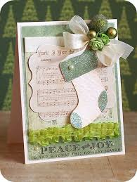 DIY Greeting Card Ideas Hristmas Cards Music Sheets Paper Crafts
