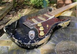Heavy Relic Late 60s SC Type Guitar Large Headstock Maple Capped Neck Bareknuckle Pickups All Quality Parts Throughout If You Like Em Well Used And