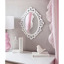 Decorative Oval Wall Mirror White Wooden Frame For Bathrooms Bedrooms Dressers And Antique Princess Dcor Medium
