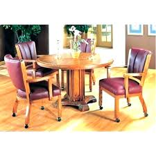 Kitchen Table And Chairs With Casters Kitchen Table Casters Swivel