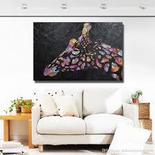 großhandel moderne abstrakte acryl gemälde leinwand gemälde wohnzimmer wand dekor bilder handgemaltes schönes deer ölgemälde kein gestaltet