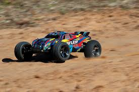 Traxxas Rustler VXL Brushless 1/10 RTR Stadium Truck - Rock And Roll ...