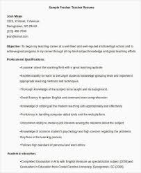 Resumes Free Download Pdf Format Lovely Teacher Resume Sample 32 Word Documents Simple