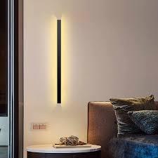 nordic moderne urlaub aluminium minimalistischen kreative lange wand len für schlafzimmer wohnzimmer nacht wand lichter ligting leuchte