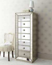 Hayworth Mirrored 3 Drawer Dresser by Furniture Beautiful Mirrored Lingerie Chest For Your Bedroom
