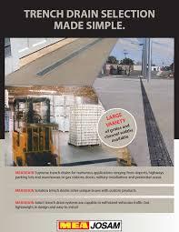 Josam Pvc Floor Drains by Mea Josam Trench Drain Manufacturer Info Page Pro Plus 100 200