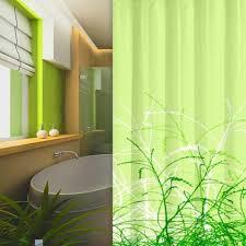textil duschvorhang 180x180 cm gräser grün inkl duschringe