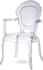 damiware broxster stühle design stühle küche esszimmer wohnzimmer kristallklar material brokant cristal