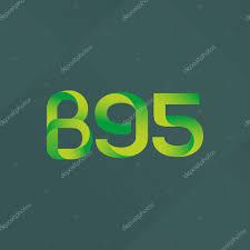 100 B95.com Letter And Digit Logo B95 Stock Vector Brainbistro