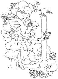 Letter J Alphabet Fairy Talking To A Butterfly Coloring Pages