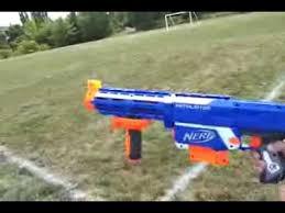 nerf retaliator range test with barrel