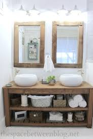 Master Bathroom Remodel Complete With DIY Vanity And Mirror Frames New Dimmable LED Lights From
