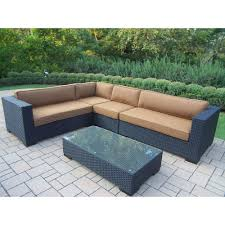 Outdoor Cushions Sunbrella Home Depot by Oakland Living Luxury All Weather Wicker Patio Sectional Set With