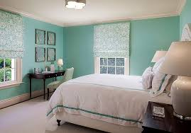 Tiffany Blue Living Room Decor by Tiffany Blue Bedroom With Sea Fans Over Black Desk Transitional