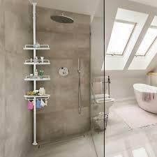 details zu duschregal duschablage teleskopregal eckregal 4 ablagen duschecke bad regal