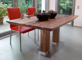 Attractive Modern Wood Dining Table Design Inside