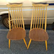 2 Ercol Blonde Goldsmith Dining Chairs   In Hastings, East Sussex ... Set Of Two Mid Century Modern Accent Chairs In Blonde Oak And Black Find More Table With Leaf 4 150 Poos New Price Shop Copper Grove Siuslaw Finished Ding Chair 2 Riga 5 Pce Suite Focus On Fniture Simpli Home Draper 7piece With 6 Upholstered Crown Range Ltd Scanstywheorblackdingchairwithnaturaloaklegs New Nord 79500 Port Extendable By Harry Ostergaard The Vintage Room Room Ideas Ladder Back