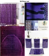 20 piece bath accessory set purple bath rug set purple zebra