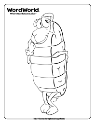 WordWorld 2 Free Disney Coloring Sheets With Word World Pages