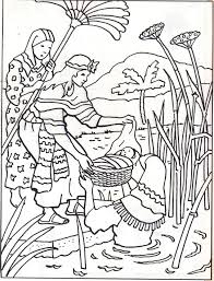 Baby Moses Bible Crafts Sunday School Coloring Pages To Color Printable Books Colouring Sheets Vacation